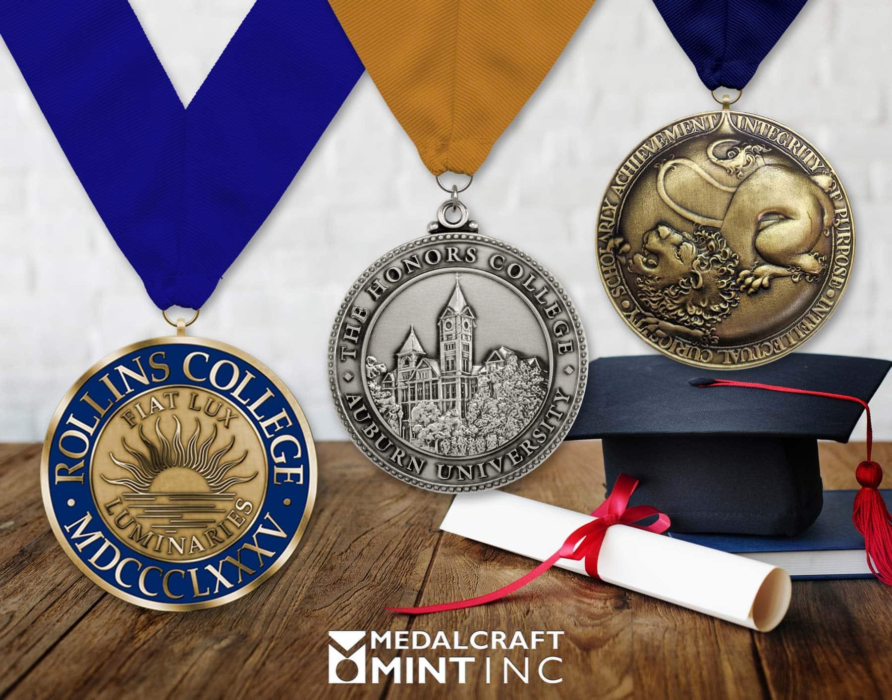 Graduation medals begin the alumni relationship-building process