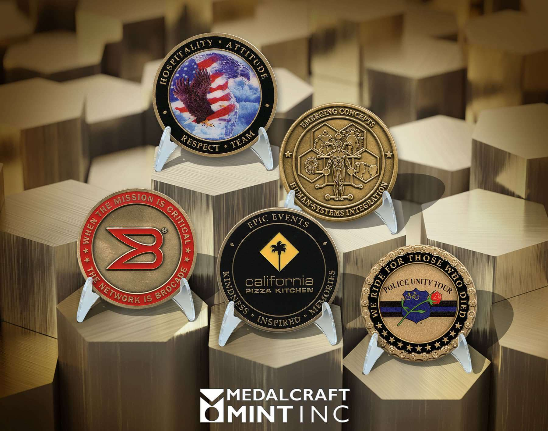 Custom brass coins are a popular choice for challenge coins