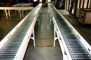Robinson motor driven roller conveyor