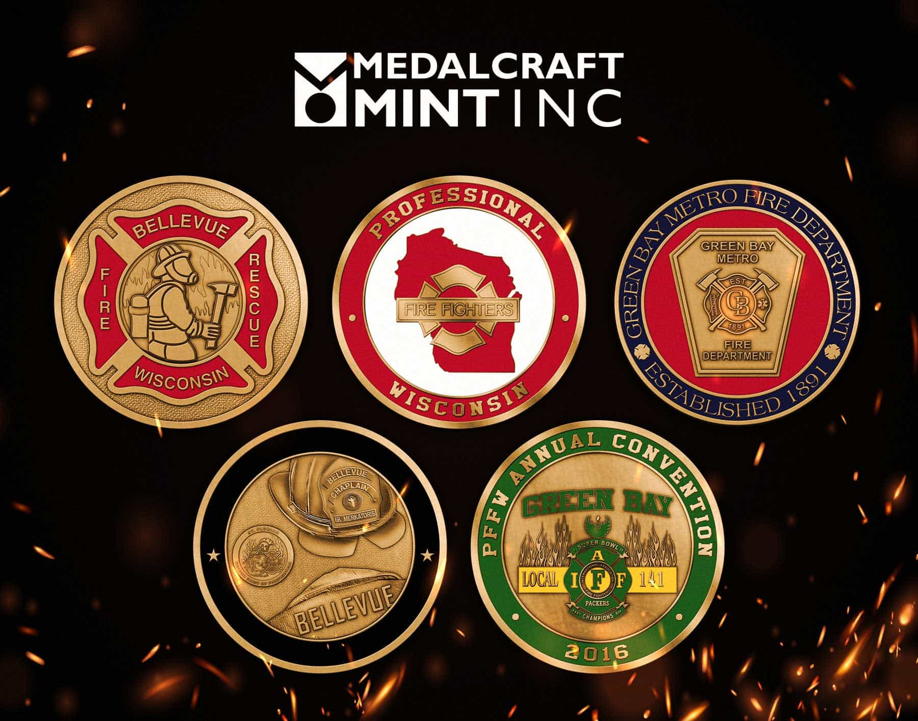 You are currently viewing Firefighter challenge coins highlight dedicated service
